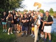 The Vicars and Nuns of the Order of St Radegund celebrate victory at the Beer Tree (complete with the ancient relic - the Drawers of St Radegund)