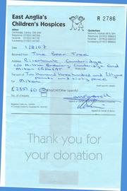 Receipt from Milton Children's Hospice in 2007