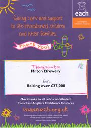Receipt from Milton Children's Hospice in 2017