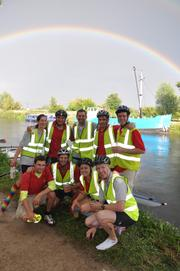 Our friends, the Outspoken cycle couriers, got all aquatic this year - maybe they'll be delivering by boat next!
